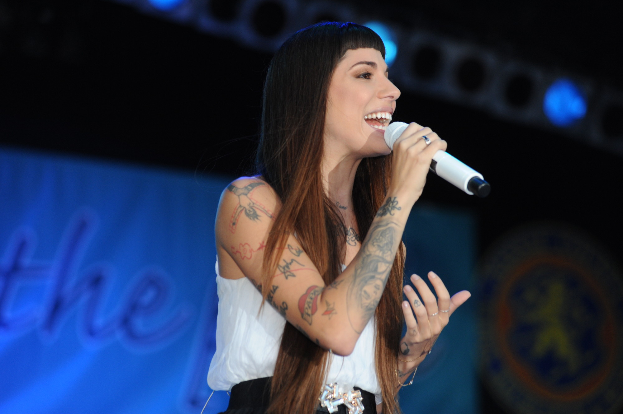 Christina Perri livened up Eisenhower Park on July 26.
