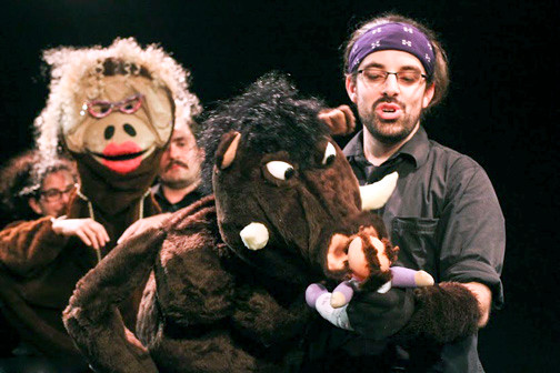 """Avenue Q"" meets Dee Snider in a comic interpretation of Shakespeare's violent tragedy featuring silly-string gore, a bunch of angry goths and a villainous anthropomorphic boa."