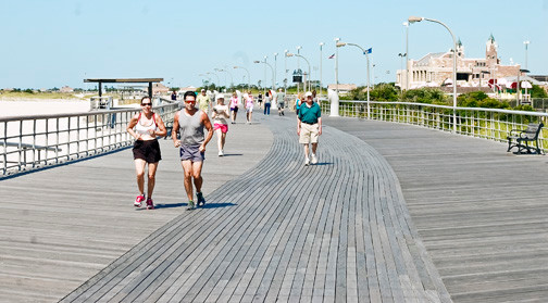 The Jones Beach Boardwalk, now beautifully restored, was among many areas of the state park that were inundated by Hurricane Sandy.