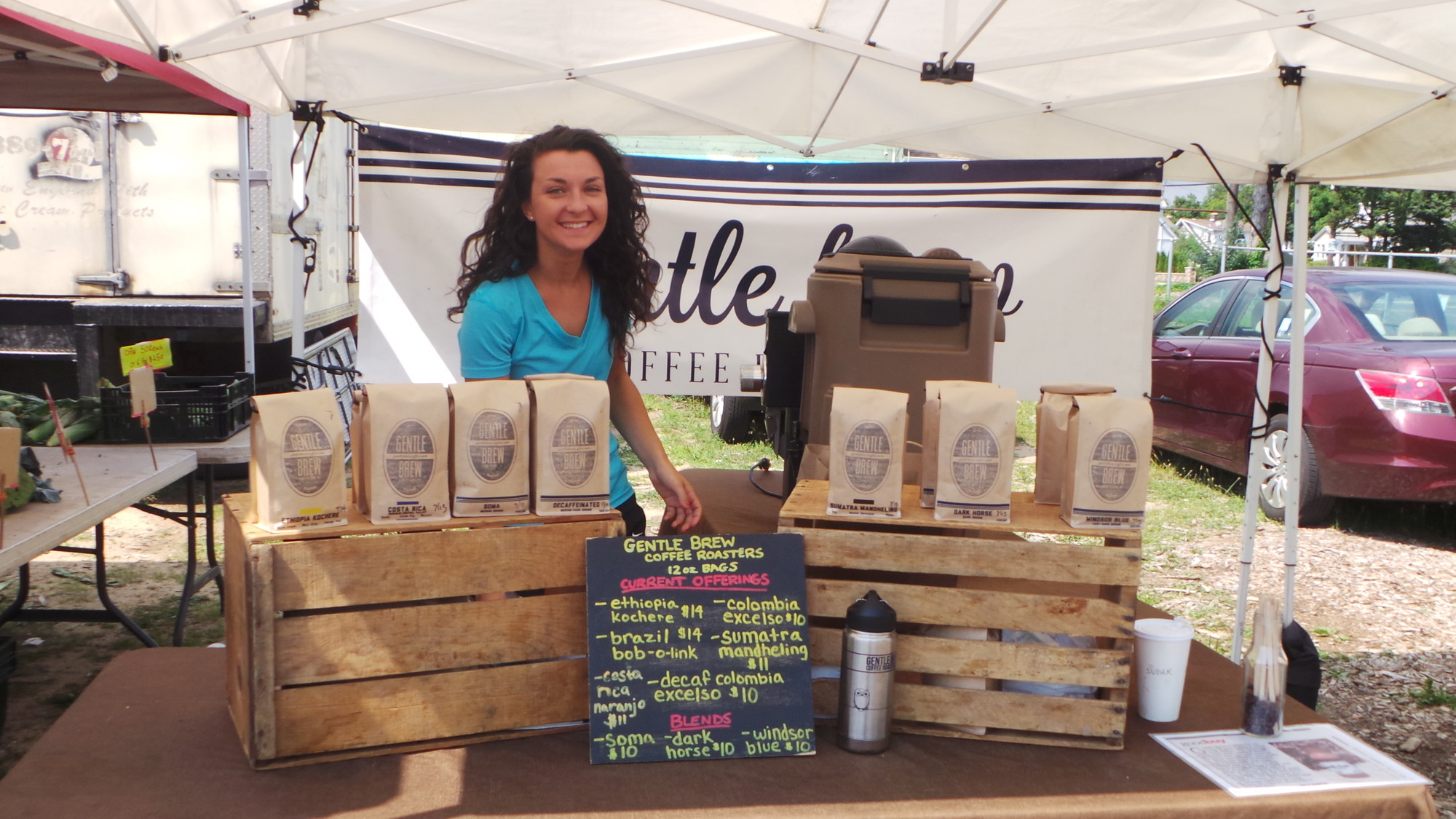 Gentle Brew brings its global coffee beans to the farmer's market