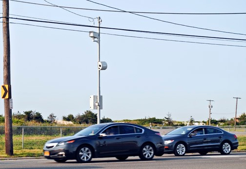 Starting this fall, a camera on Lido Boulevard will begin clocking drivers outside Long Beach Middle School. Those who drive 10 mph or more over the 20 mph speed limit will receive tickets in the mail, much like the infractions recorded by red light cameras.