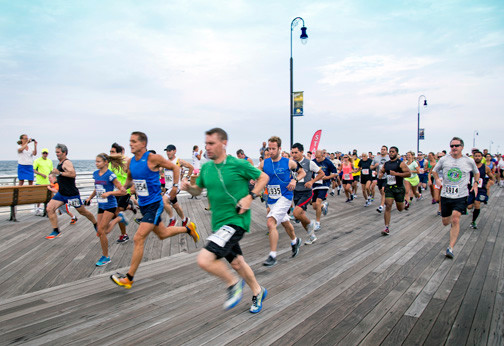Approximately 250 people participated in Sunday's 5K race.