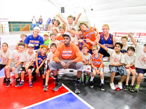 Coleman campers got a chance to hang out with Hardaway.