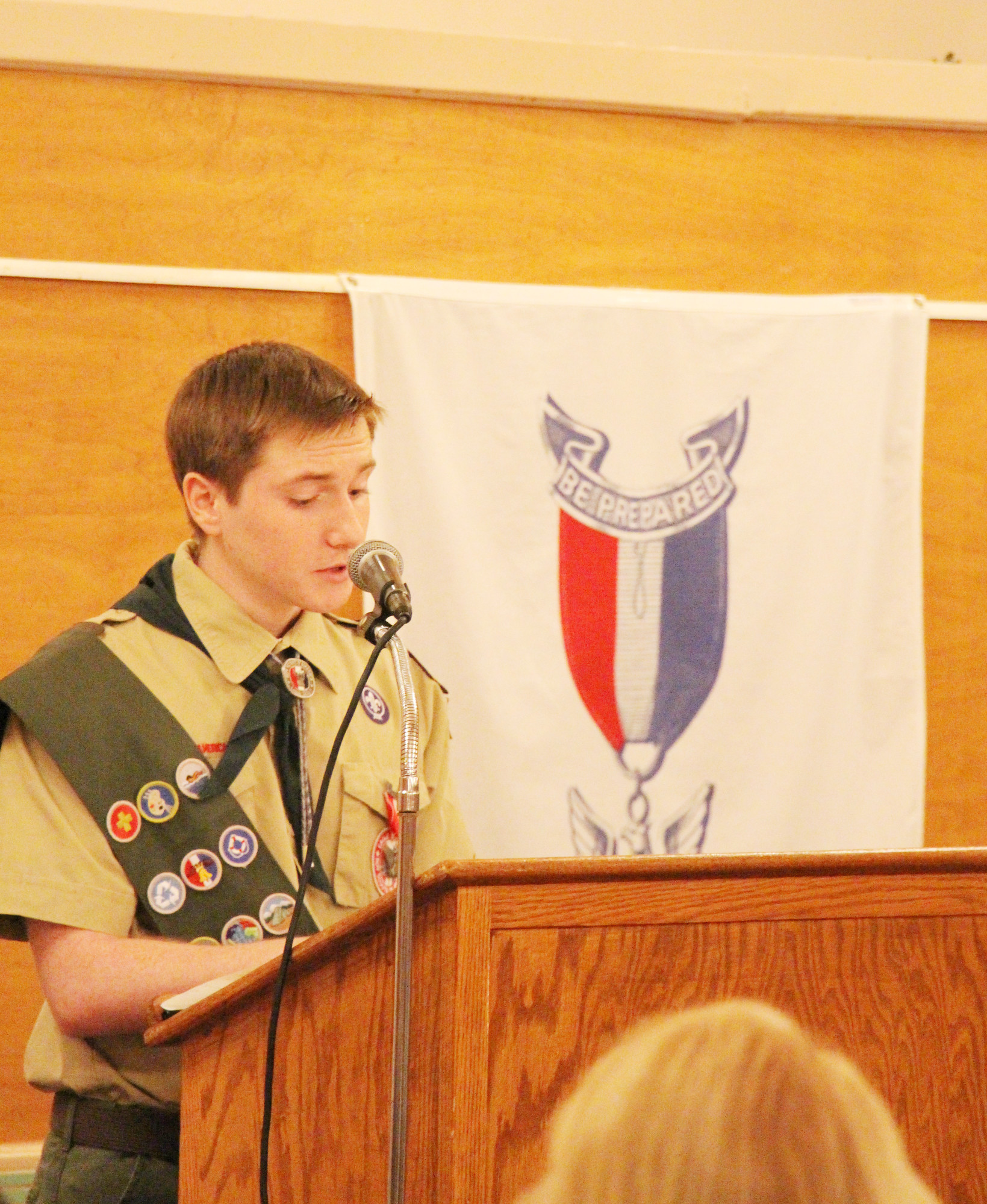 David Santarelli's Response Speech was gave many kind words of gratitude to all who helped him reach Eagle.