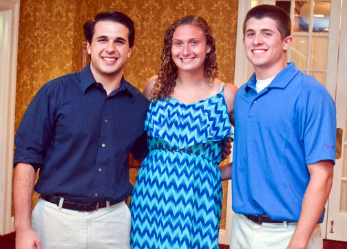 Zack Zaromatidis, Emma Duncliffe and Michael McVeigh were the recipients of the Dr. Santos Barbarino scholarships.