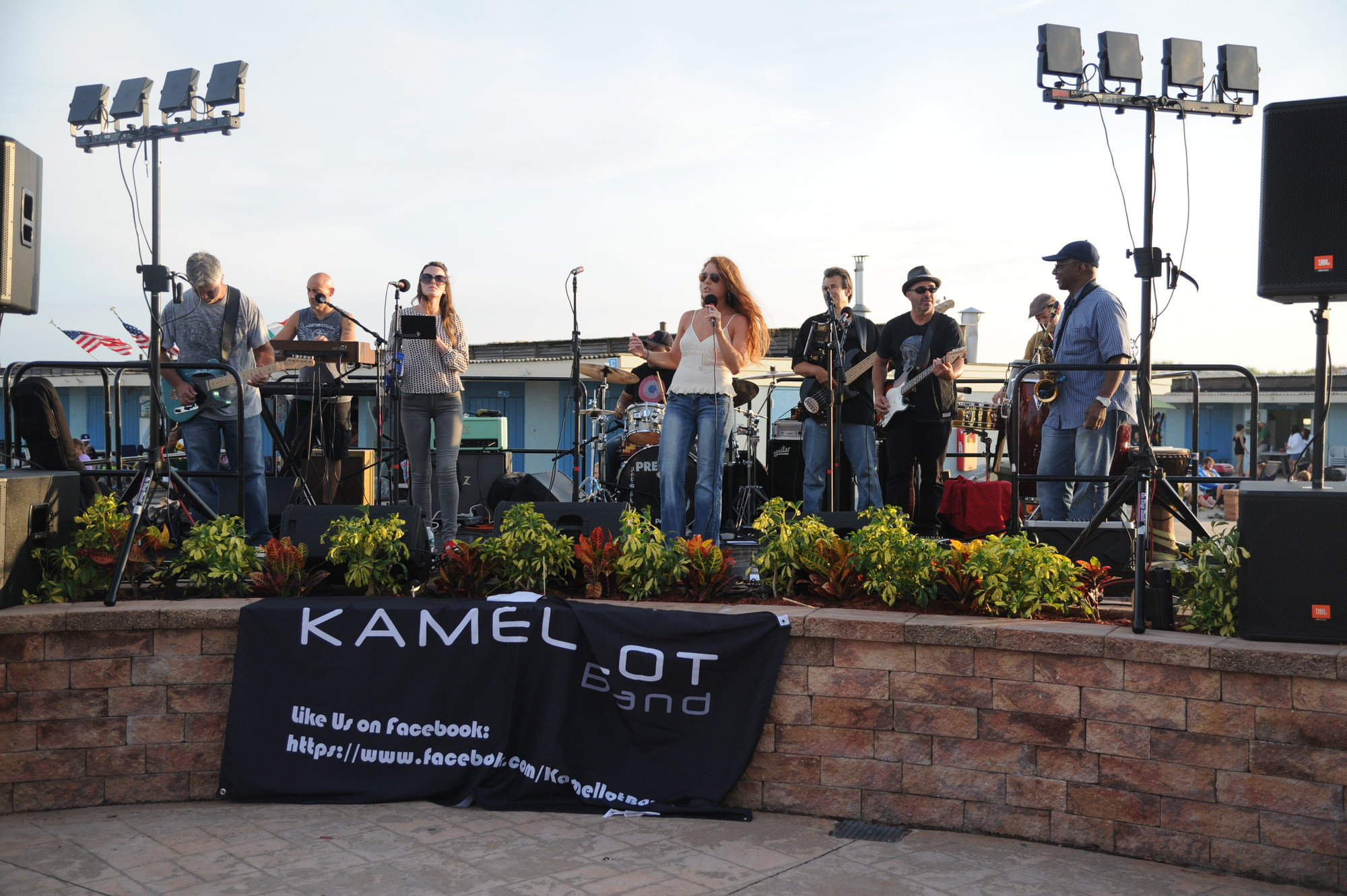 Kamellot, a rock band comprised of graduates of Kennedy High School, played an outdoor concert at MaliBlue for the reunion.