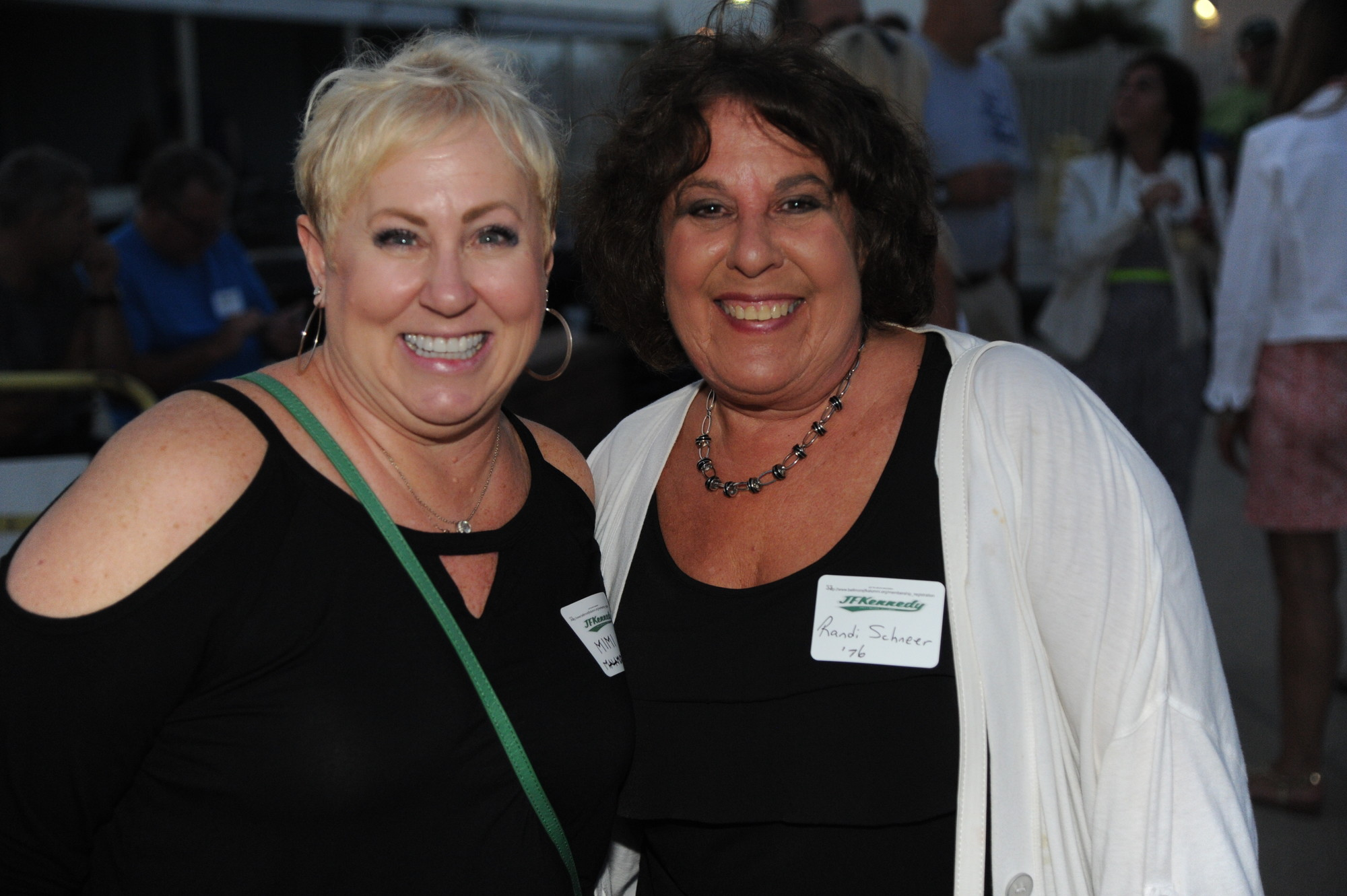 Mimi Malamud (class of 1975) and Randi Schneer (class of 1976) were some of the Kennedy graduates to attend the event.