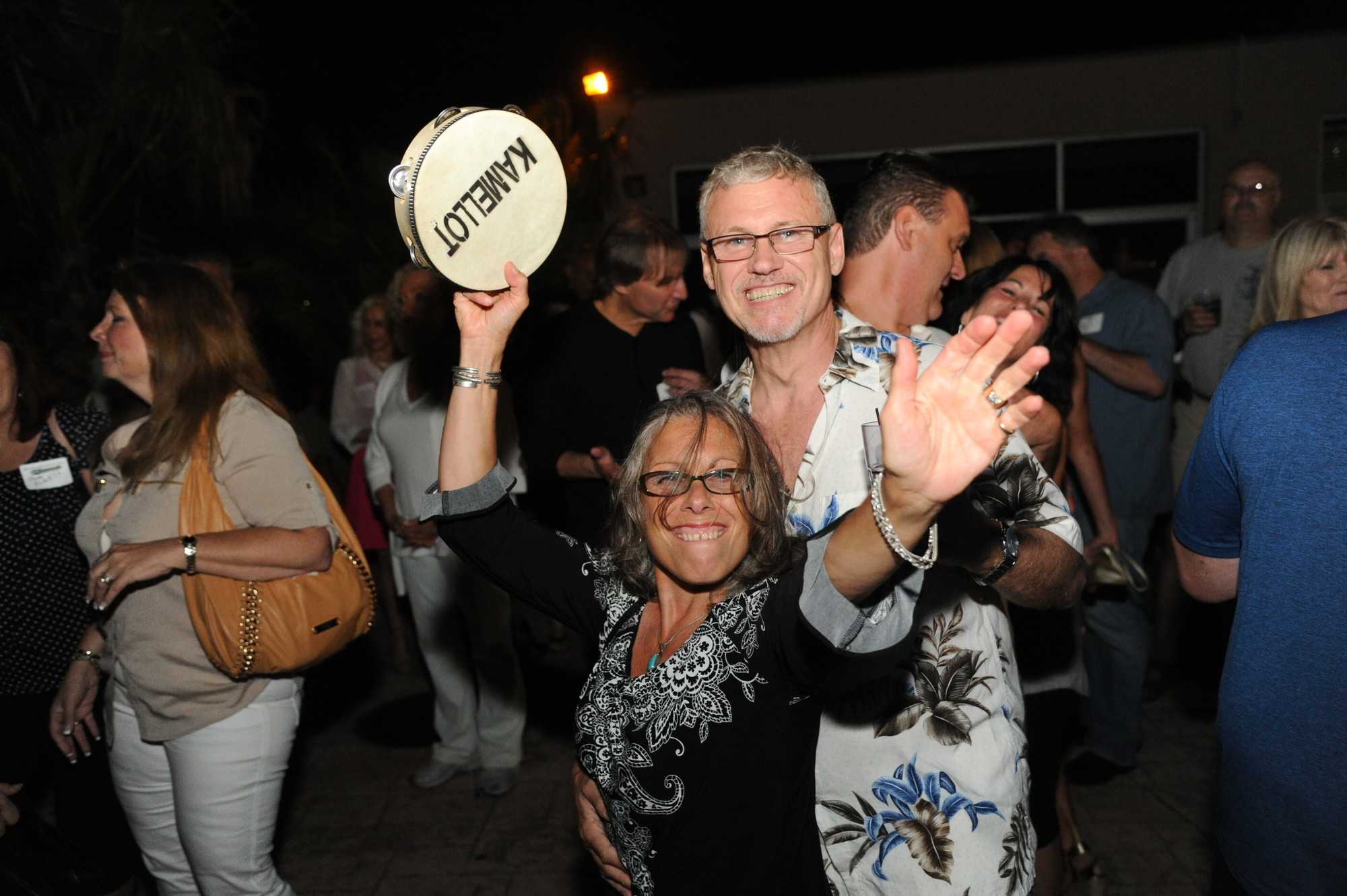 Jim Burdeshaw, a member of Calhoun High School's class of 1974, danced with his wife, Denise, to the sounds of Kamellot, a band made up of Kennedy High School alumni. The group performed at the Bellmore-Merrick multi-year, multi-school reunion at MaliBlue Oyster Bar last weekend.