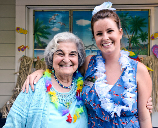Rosaline Levine and Lauren Bender- Engage Life program Instuctor at the Artia for the Luau.