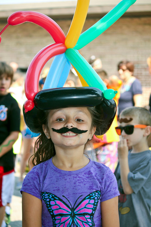 Fourth grader Sophia Tripiccione showed off her new balloon hat.