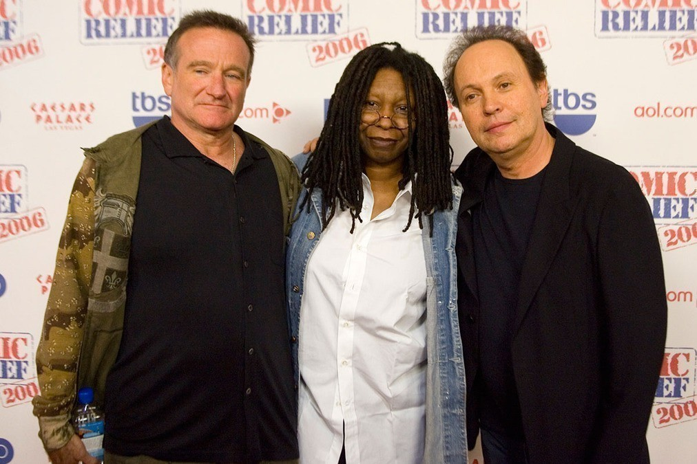 Robin Williams, Whoopi Goldberg and Billy Crystal.