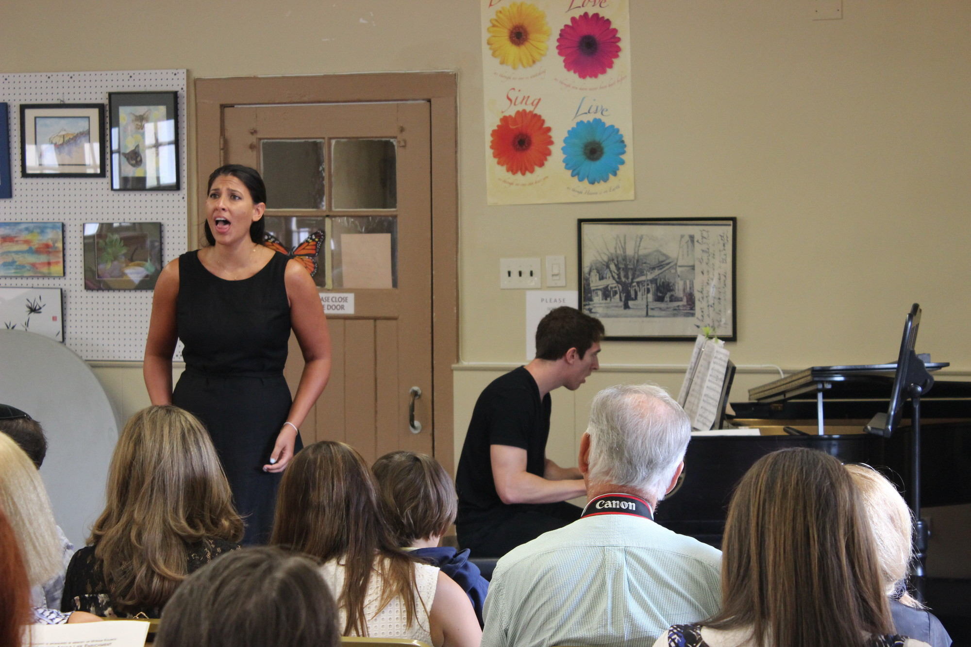"Hewlett residents Alexis Pesenti, sang ""Ch'il Bel Sogno"" accompanied by her brother, Benjamin Pesenti, on the piano."