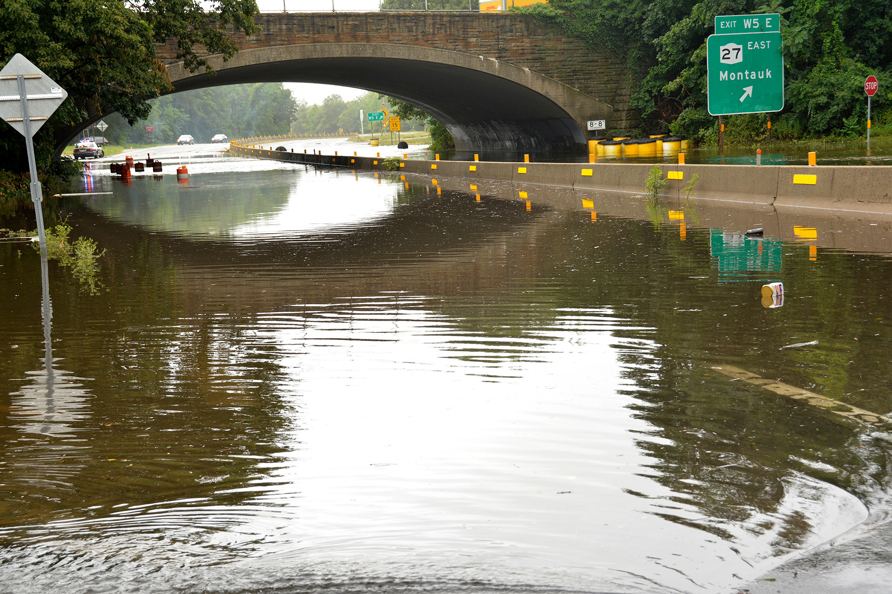 The Wantagh Parkway near Sunrise Highway was impassable.