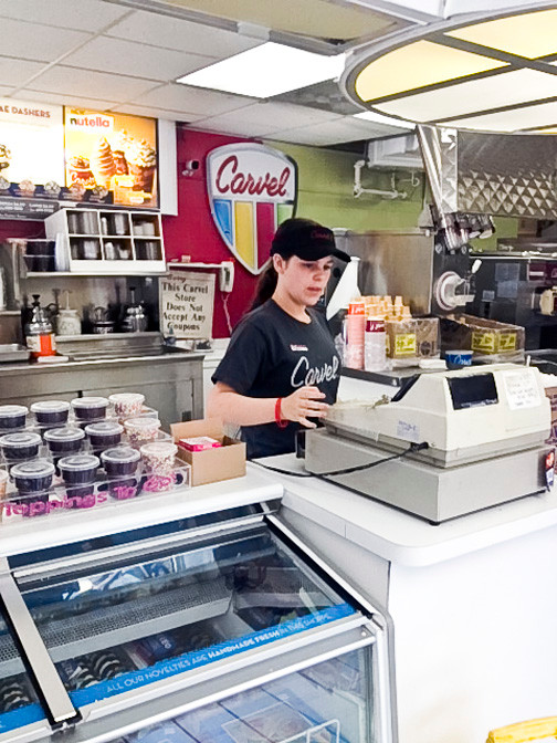 Sidney McLaughlin, 15, of Seaford, enjoys working at Carvel and hopes to keep her job beyond the summer.