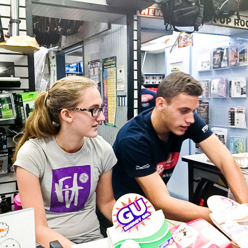 Jenn Borzym, 18, of Bellmore and Chris, 18, of Seaford are working at Brands Cycle and Fitness in Wantagh this summer.