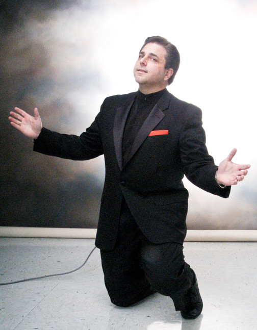 "Vocalist Tony B sings the Jolson standards in his two hour show, ""The Heart of Al Jolson."""