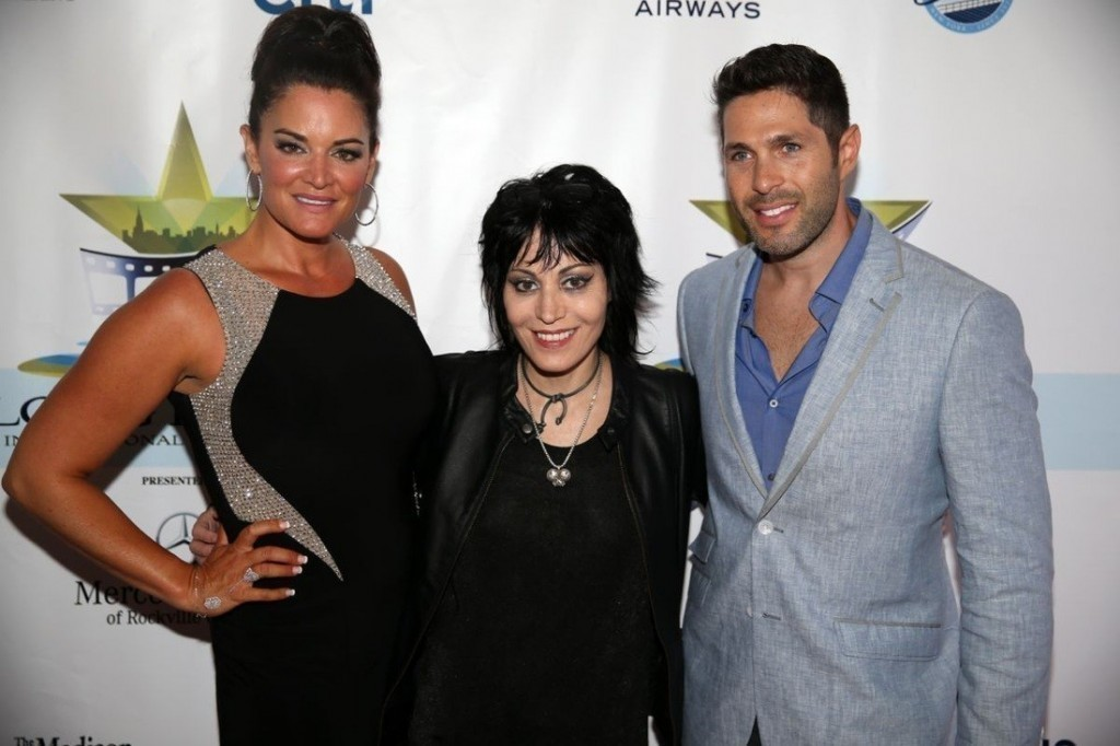 LBIFF co-founder Ingrid Dodd, left, musician and Long Beach resident Joan Jett, and LBIFF co-founder Craig Weintraub.