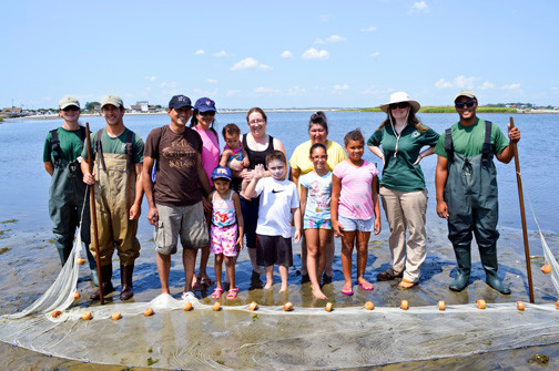 The Mid-Tide Splash group spent a morning exploring the Theodore Roosevelt Nature Center at Jones Beach on Aug. 10.