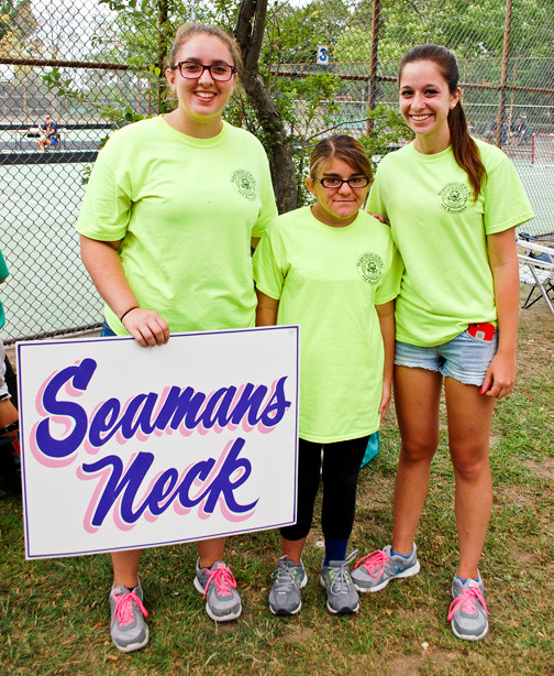 Cassidy Hartmann, Alexi Lee and Jessica Wilson spent the summer working at Seaman's Neck Park.