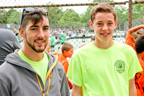 Rich Marte, left, worked his eighth summer at Forest City Park while Connor Greene was new to the staff.