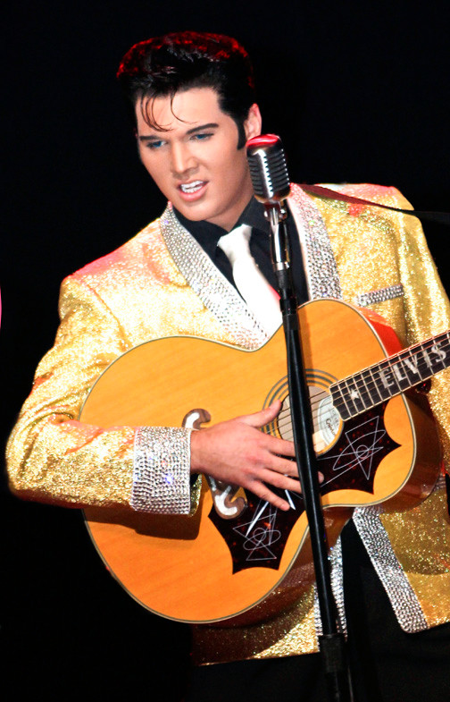 Cody Ray Slaughter shares the stage with Shawn Klush (not pictured) as Elvis.