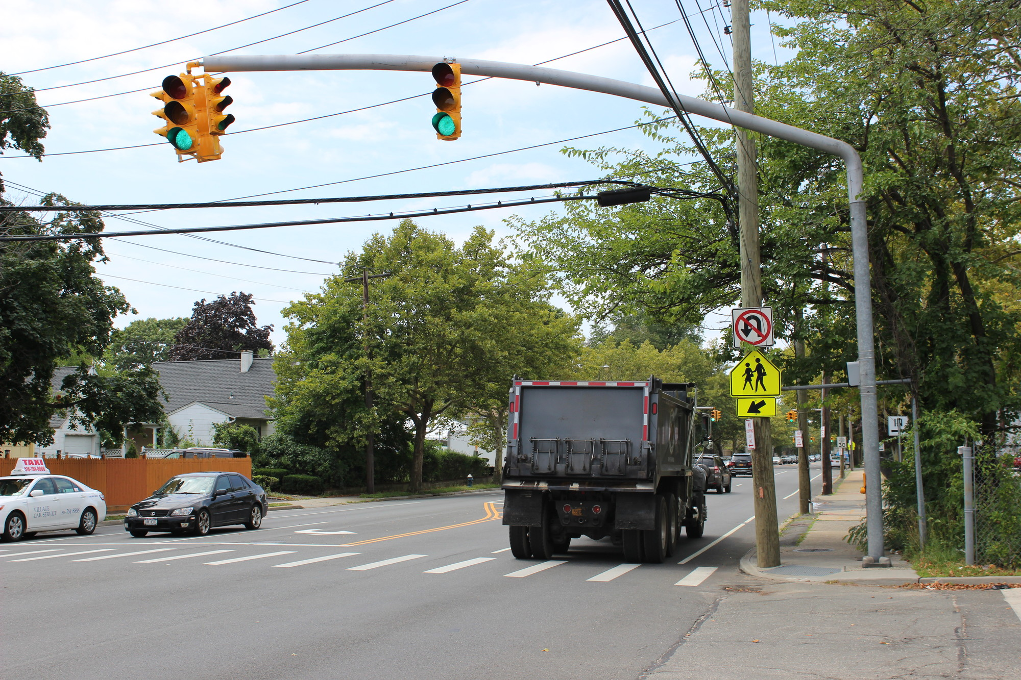 Peninsula Boulevard traffic near Woodmere Middle School will be monitored by a speed camera starting on Sept. 2, the first day of school for the Hewlett-Woodmere district.