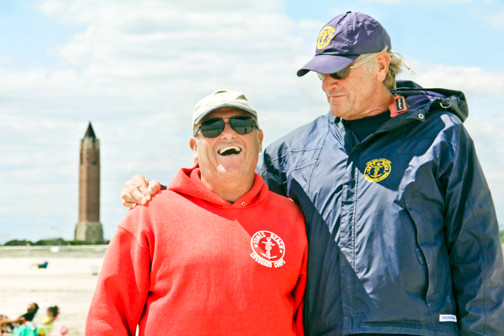 """I trust him so much with everything that goes on down here,"" East Bathhouse Ocean Capt. Tom Curtin, left, says of Lee Hahn, his longtime friend."