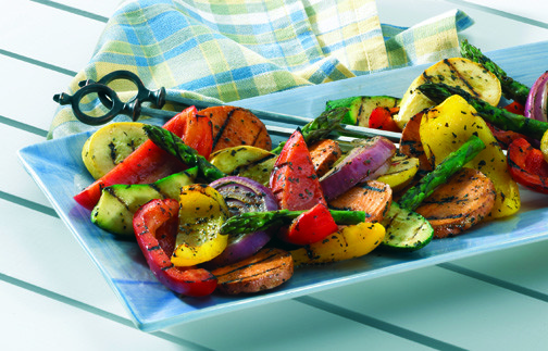 Move over the meat and bring on the veggies! Vegetables cook quickly and are so delicious with just the right hint of flavor from the grill, such as a Mixed Vegetable Grill.