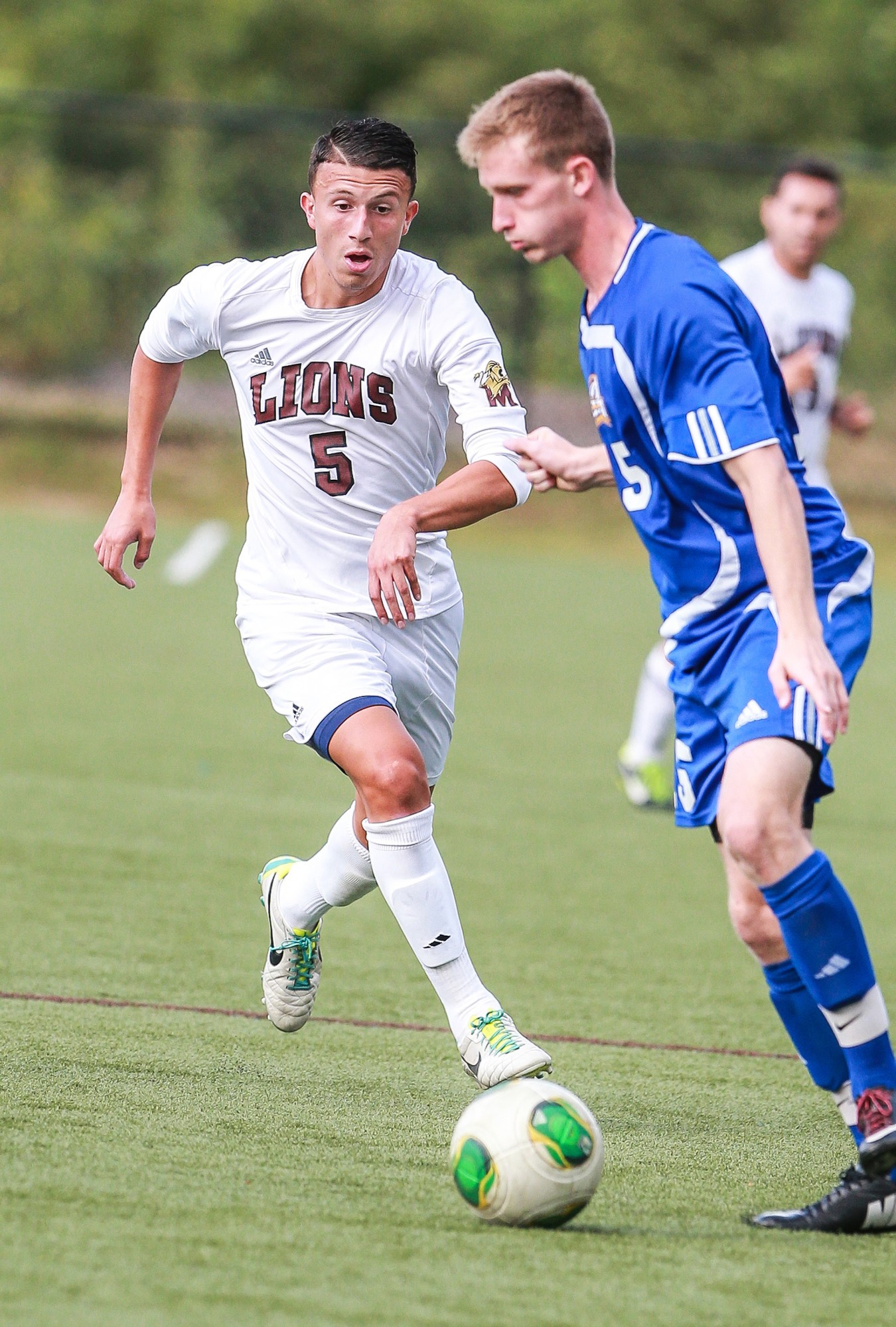 Joey Pinto, left, is a key returnee to Molloy's midfield and dangerous off set plays.