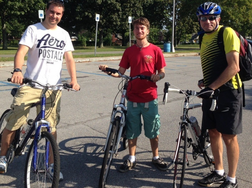 Herald Editor Andrew Hackmack, left, intern Brian Stieglitz, center, and Senior Editor Scott Brinton recently cycled from Cedar Creek Park, in Seaford, to Tobay Beach Park, in Massapequa, to check out New York state's new 3.6-mile, $3.8 million bicycle path on the Ocean Parkway.
