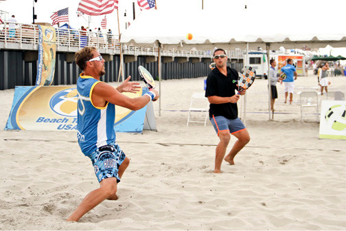 Marty Salokas, left, of California, and Carlos Rivera, of Puerto Rico, played in the doubles tournament.