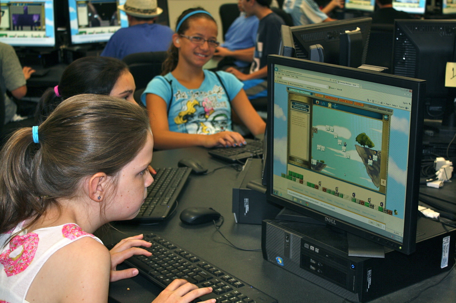 Lynbrook middle school students learned the elements of game design at the STEM Academy this summer