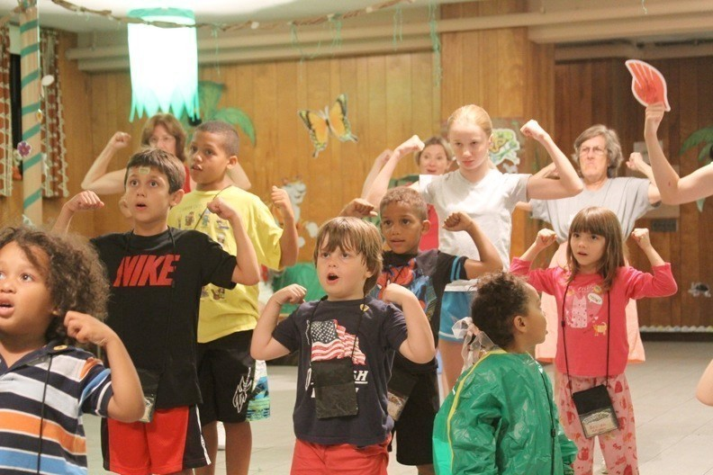 The children enjoyed a variety of activities during Lynbrook Lutheran Church's first summer bible school