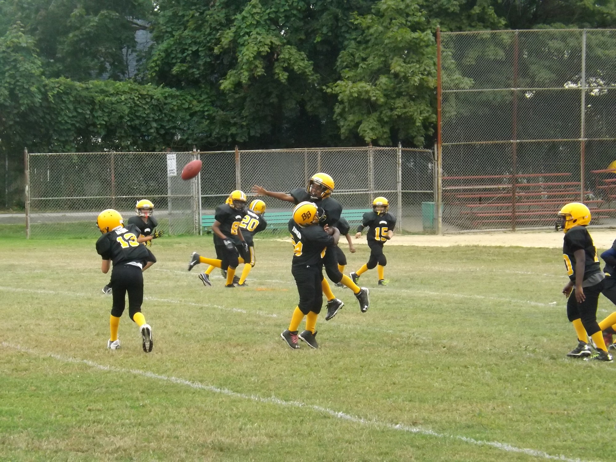 The Baldwin Bombers ran short practices on Sept. 13, the day before their regular season kicked off.