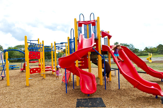 The new playground was installed over the summer and ready for students on the first day of school.