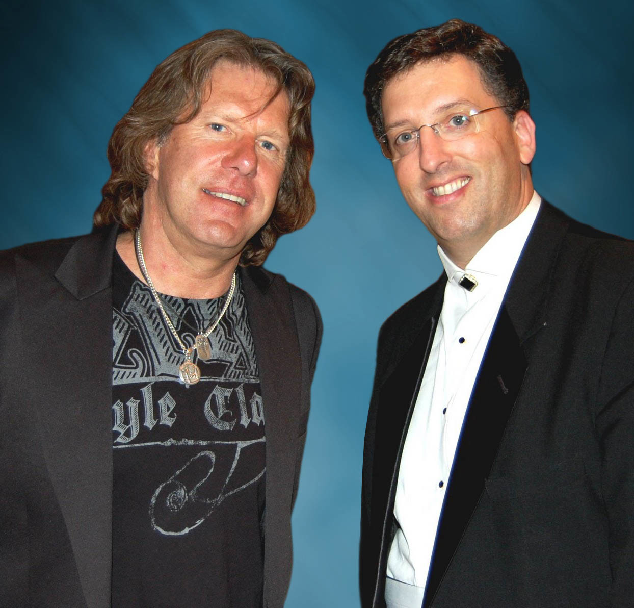 "Keith Emerson, left, said that pianist Jeffrey Biegel will stay true to his composition of ""Piano Concerto No. 1,"" which Emerson first performed in 1977 with ""Emerson, Lake & Palmer."""