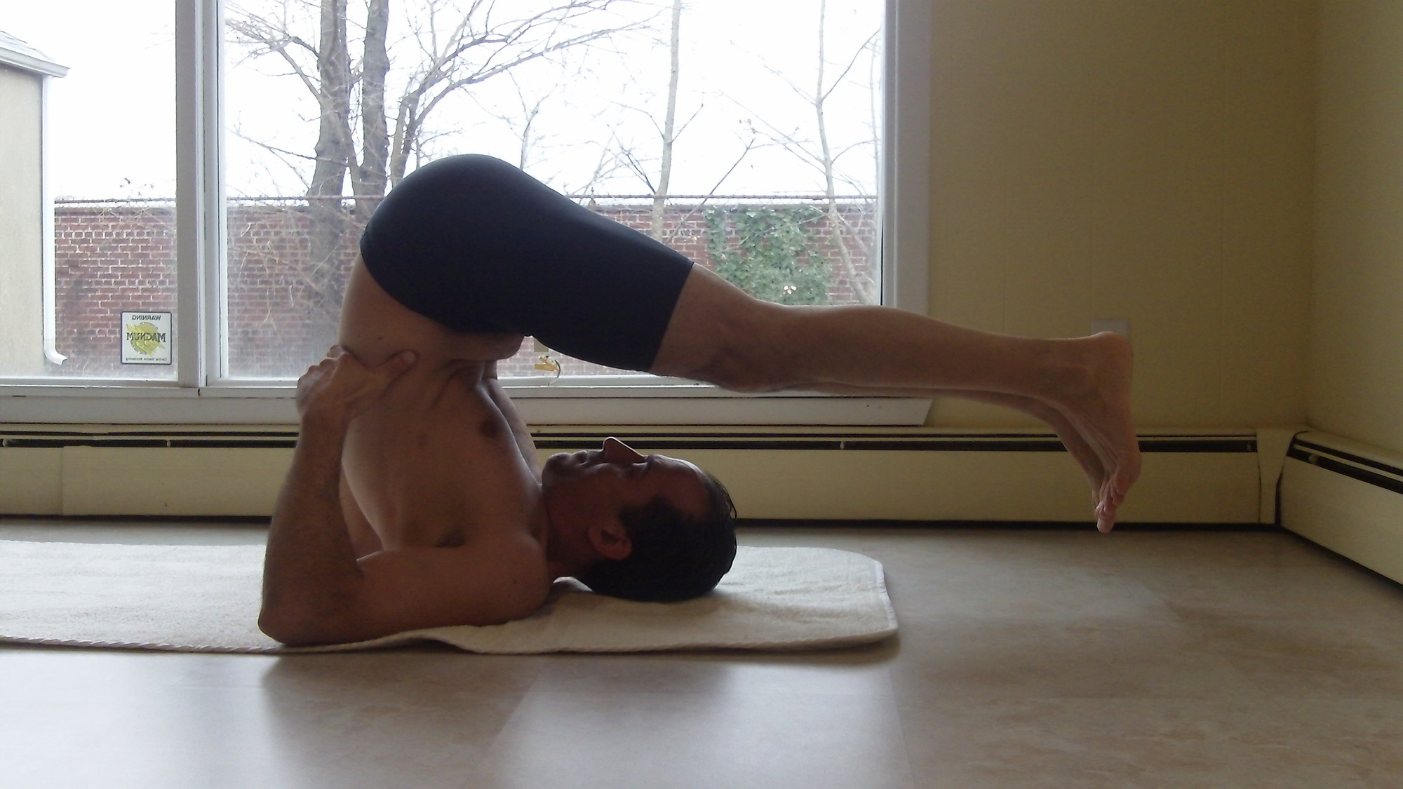 Joseph Parenti practices Bikram yoga regularly, saying the poses and the heat are great therapies for his neck.