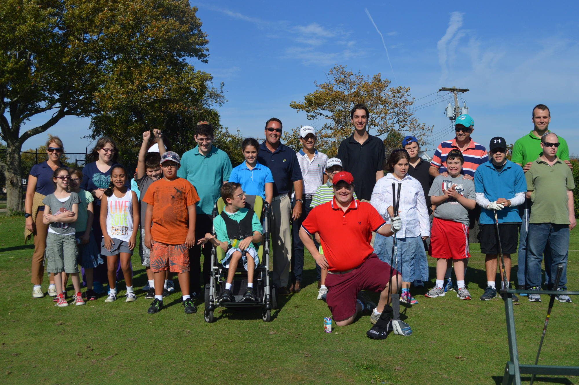 "The Woodmere Club hosted the JCC of the Greater Five Towns ""Play Golf"" clinic for children and young adults with special needs."