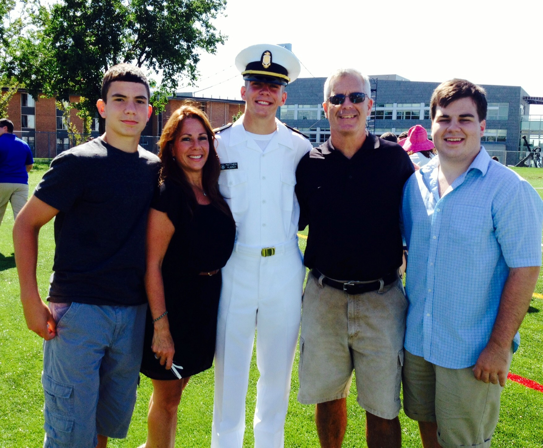 Judge Terence Murphy, second from right, will be grand marshal of Seaford's Homecoming parade on Saturday. He was joined by his family, from left, son Kevin, wife Tracy, and sons Matthew and Patrick.