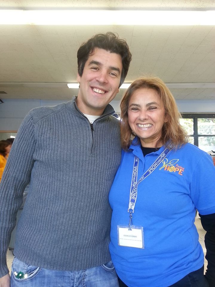 Barry with Sharon Friend of Project Hope, with whom he credits with helping him regain hope after Hurricane Sandy