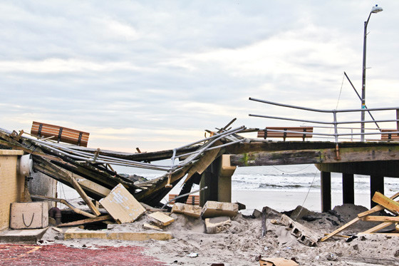 The Iconic Long Beach boardwalk was destroyed by Hurricane Sandy. The city reopened a rebuilt boardwalk in July 2013.