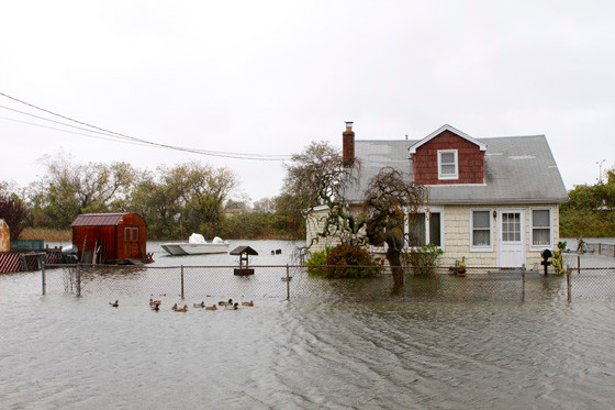 Floodwater reached three to six feet in many parts of South Bellmore.