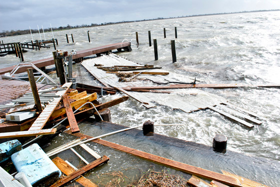 Hurricane Sandy ripped across the South Shore on Oct. 29, 2012.