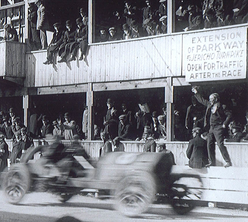 The Vanderbilt Cup Race, seen here in 1909, drove through what is now Eisenhower Park, and drew more than 300,000 spectators.