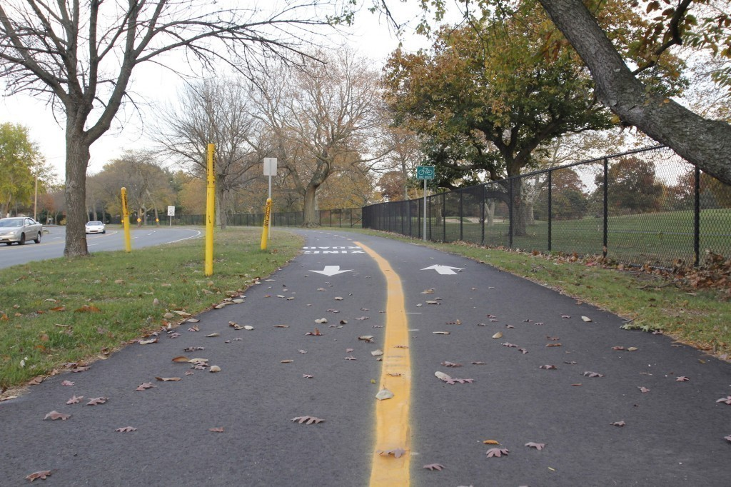 A one-mile demonstration was recently completed on Salisbury Park Drive. Nassau County will get $1.8 million in state funding to finish the segment.