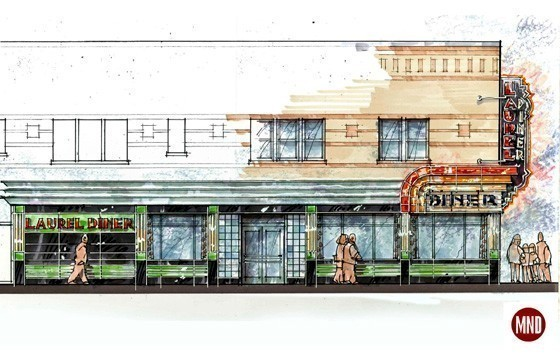 Harkening back to the 1930s, MND's new look for the Laurel Diner will incorporate the geometric shapes, sleek lines and colors of Art Deco, a style popularized during that decade.