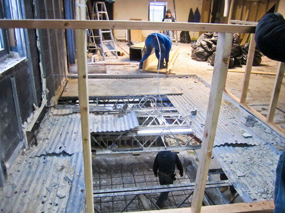 "Work is under way on a ""mikvah,"" or ritual bath, which Orthodox Jewish women traditionally use, at the new Chabad Community Center."