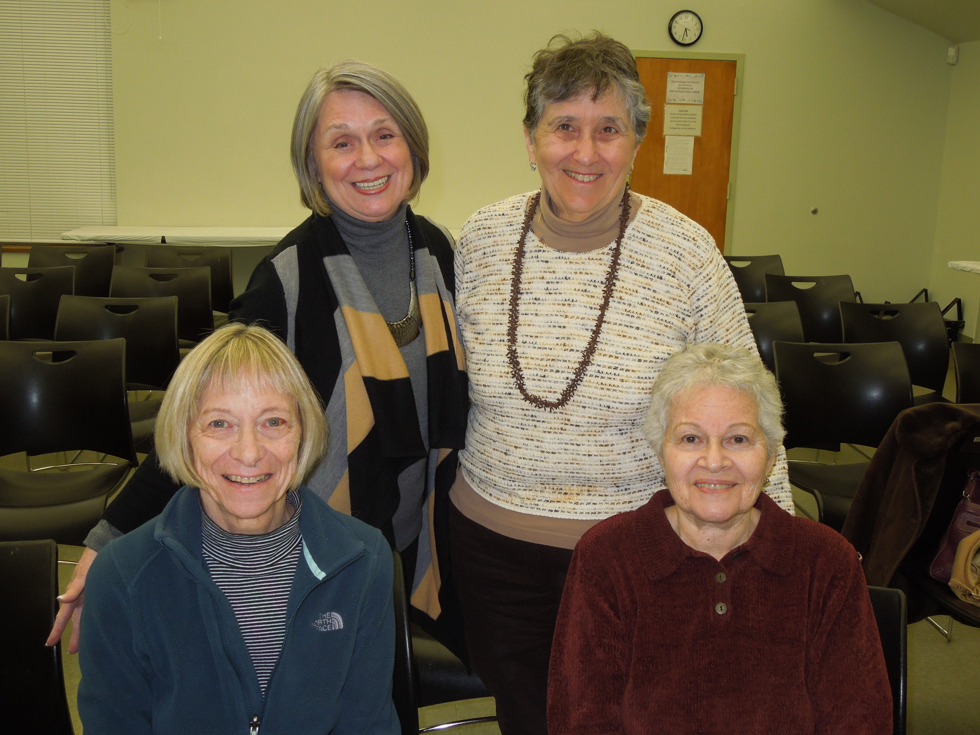 East Nassau League of Women Voters members include, clockwise from top left, Norma Shaeffer, Barbara Epstein, Peggy Stein and Barbara Josepher.