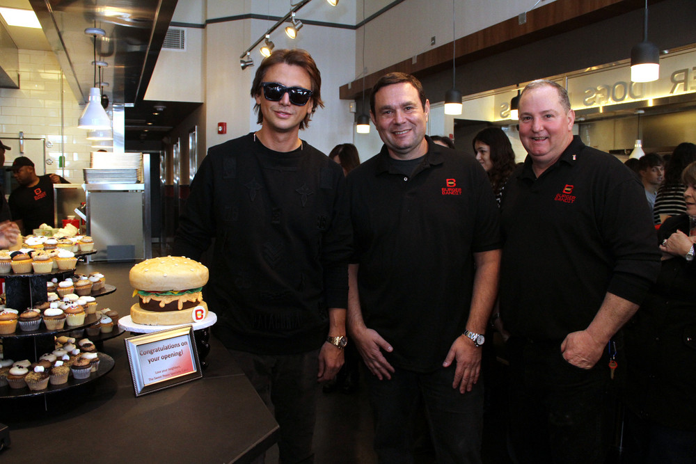 Co-owners Jonathan Cheban and Gene Broytman, left and right, with General Manager Steve Schoenly, center.