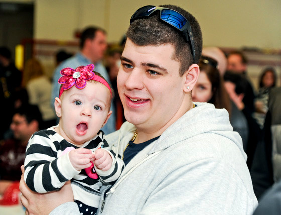 John Polverino with daughter Adrianna(8 months)